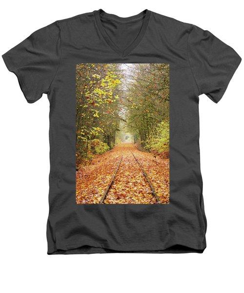 Railroad Tracks Men's V-Neck T-Shirt