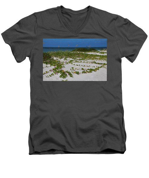 Railroad Vines On Boca IIi Men's V-Neck T-Shirt