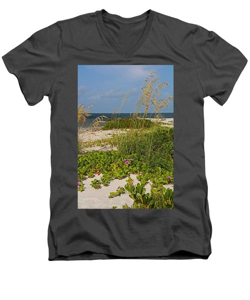 Railroad Vines On Boca Iv Men's V-Neck T-Shirt