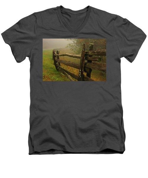 Rails Of Time Men's V-Neck T-Shirt
