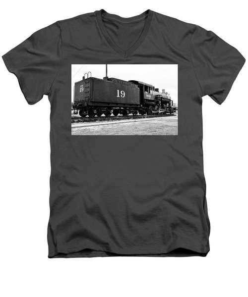 Railway Engine In Frisco Men's V-Neck T-Shirt