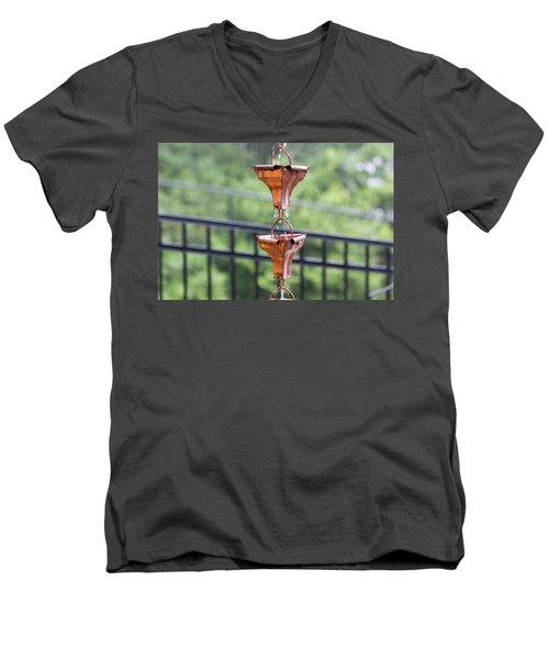 Rain Chains Men's V-Neck T-Shirt