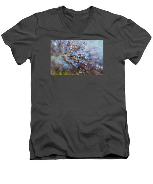 Rain Drops - 9751 Men's V-Neck T-Shirt by G L Sarti