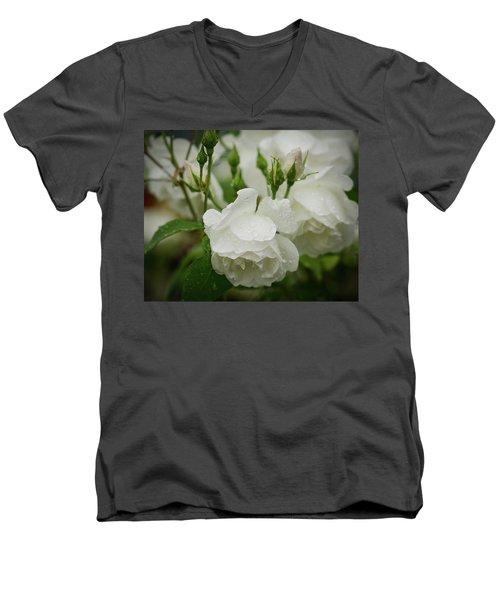 Rain Drops In Our Garden Men's V-Neck T-Shirt