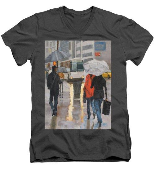 Rain In Midtown Men's V-Neck T-Shirt