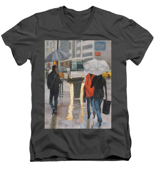 Rain In Midtown Men's V-Neck T-Shirt