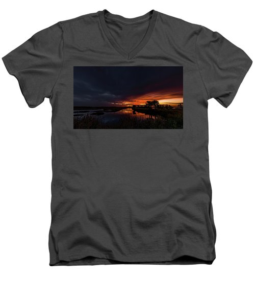 Rain Or Shine -  Men's V-Neck T-Shirt
