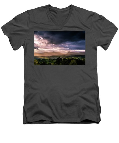 Rain Showers Over Willoughby Gap Men's V-Neck T-Shirt