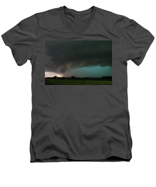 Rain-wrapped Tornado Men's V-Neck T-Shirt