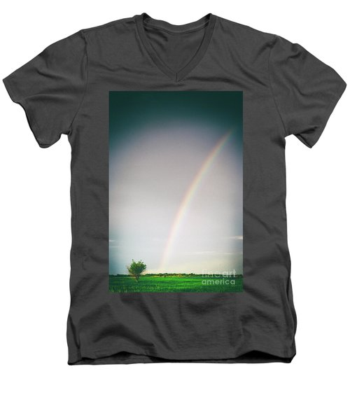 Rainbow #0157 Men's V-Neck T-Shirt