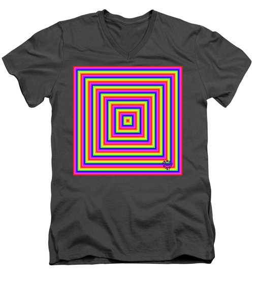 Men's V-Neck T-Shirt featuring the digital art Rainbow #1 by Barbara Tristan