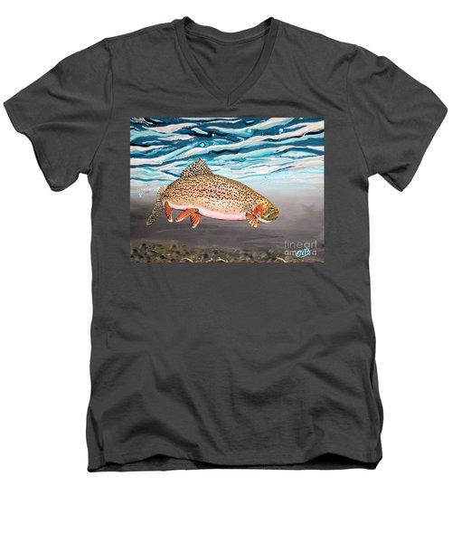 Rainbow Addiction Men's V-Neck T-Shirt