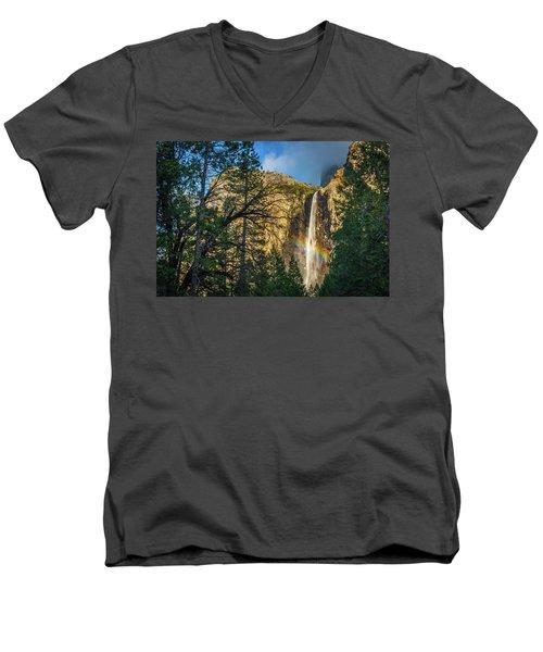 Rainbow And Bridalveil Fall Men's V-Neck T-Shirt