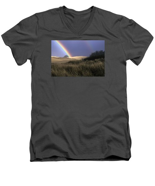 Rainbow And Dunes Men's V-Neck T-Shirt