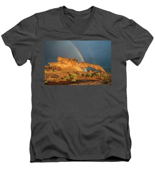 Rainbow Arch Men's V-Neck T-Shirt