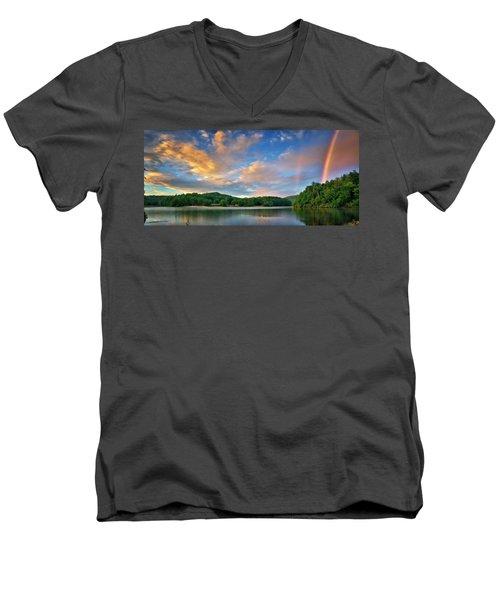 Rainbow At Linville Land Harbor Men's V-Neck T-Shirt