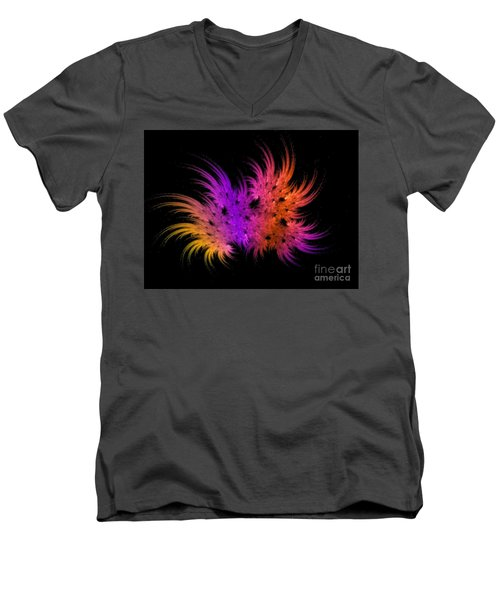 Rainbow Bouquet Men's V-Neck T-Shirt