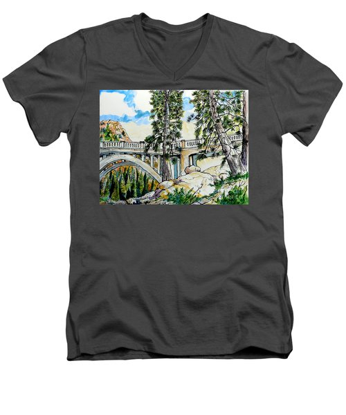 Rainbow Bridge At Donner Summit Men's V-Neck T-Shirt by Terry Banderas