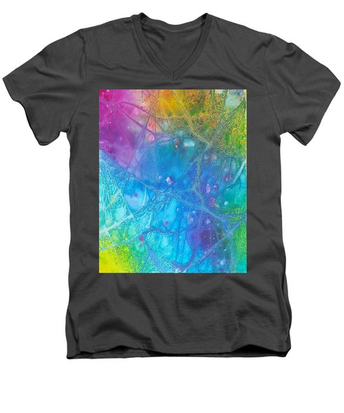 Rainbow Men's V-Neck T-Shirt by Artists With Autism Inc