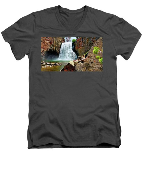 Rainbow Falls 4 Men's V-Neck T-Shirt
