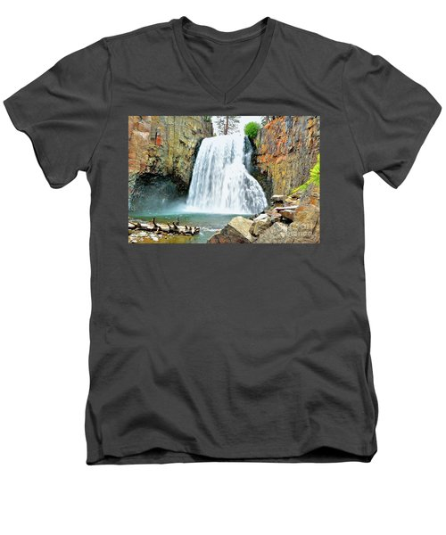 Rainbow Falls 6 Men's V-Neck T-Shirt