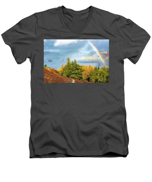 Rainbow Gold Men's V-Neck T-Shirt
