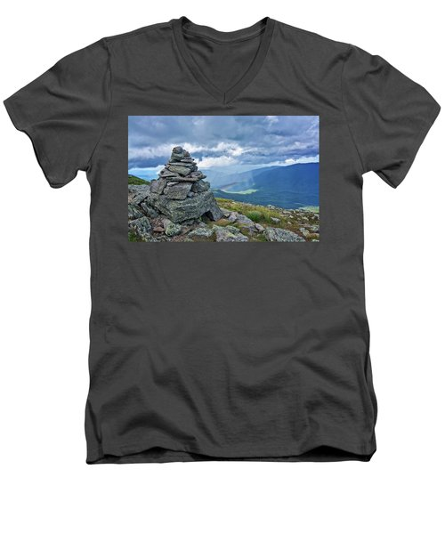 Rainbow In The Mist Nh Men's V-Neck T-Shirt by Michael Hubley
