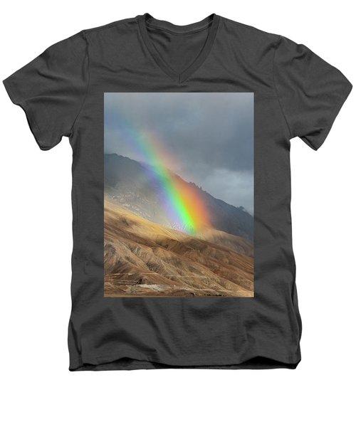 Rainbow, Kaza, 2008 Men's V-Neck T-Shirt