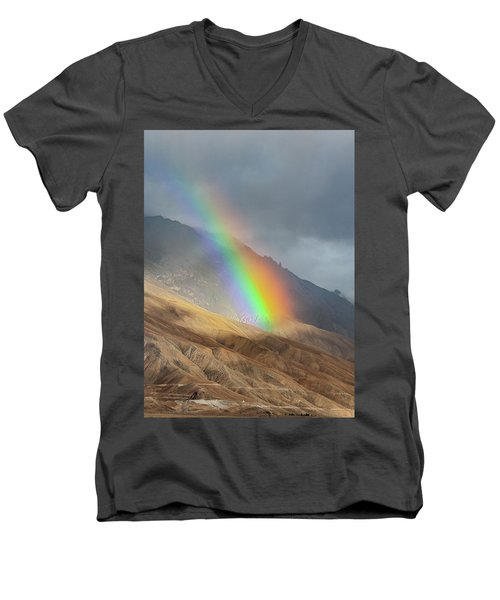 Rainbow, Kaza, 2008 Men's V-Neck T-Shirt