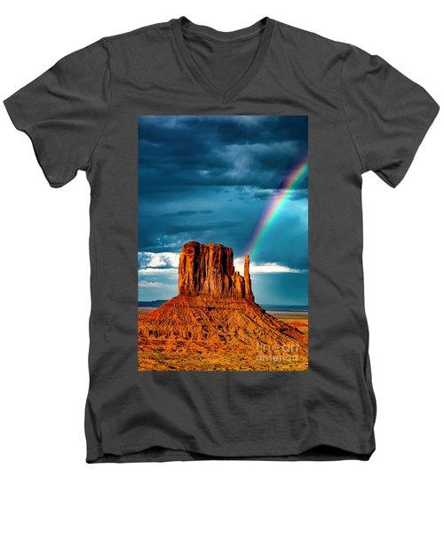 Rainbow Men's V-Neck T-Shirt