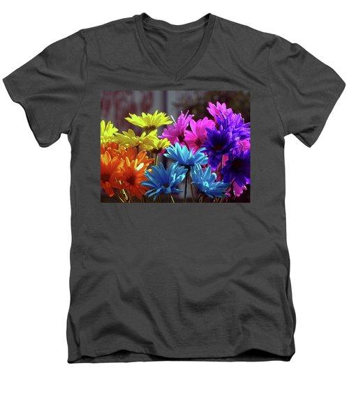 Rainbow Mums 5 Of 5 Men's V-Neck T-Shirt by Tina M Wenger