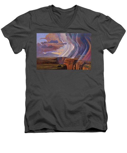 Rainbow Of Rain Men's V-Neck T-Shirt by Art James West