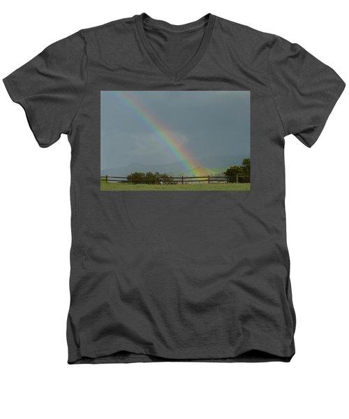 Rainbow On Valhalla Dr. Men's V-Neck T-Shirt