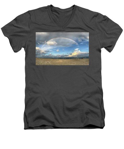 Rainbow Over Ocean Men's V-Neck T-Shirt