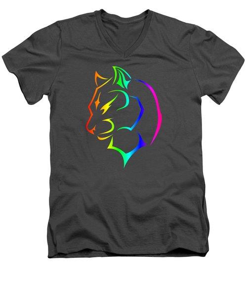Rainbow Panther Men's V-Neck T-Shirt