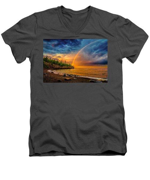 Rainbow Point Men's V-Neck T-Shirt