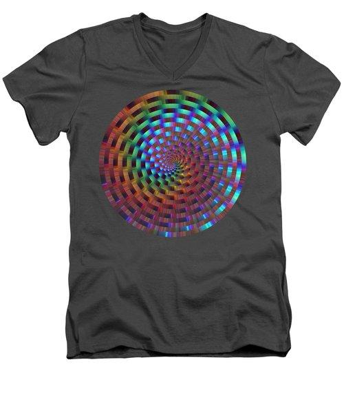 Rainbow Rings Spiral Men's V-Neck T-Shirt