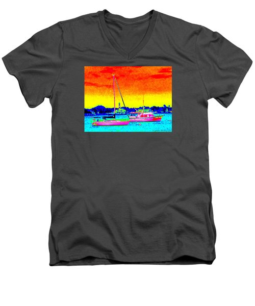 Rainbow Tide Men's V-Neck T-Shirt