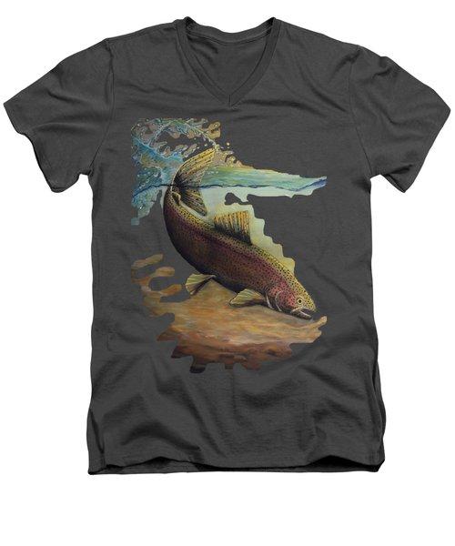 Rainbow Trout Trans Men's V-Neck T-Shirt