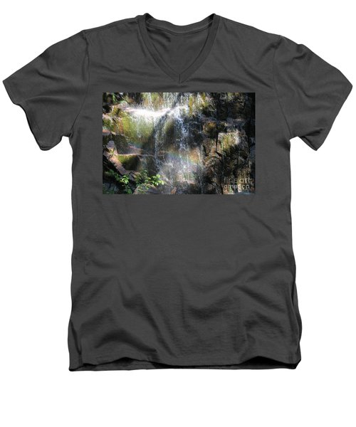 Rainbow Waterfall Men's V-Neck T-Shirt
