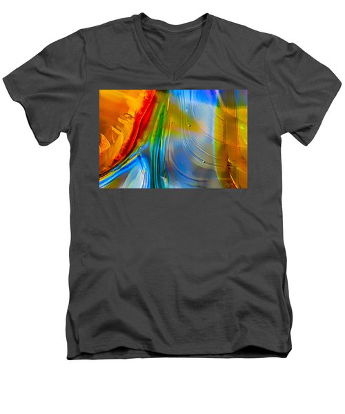 Rainbow Waterfalls Men's V-Neck T-Shirt