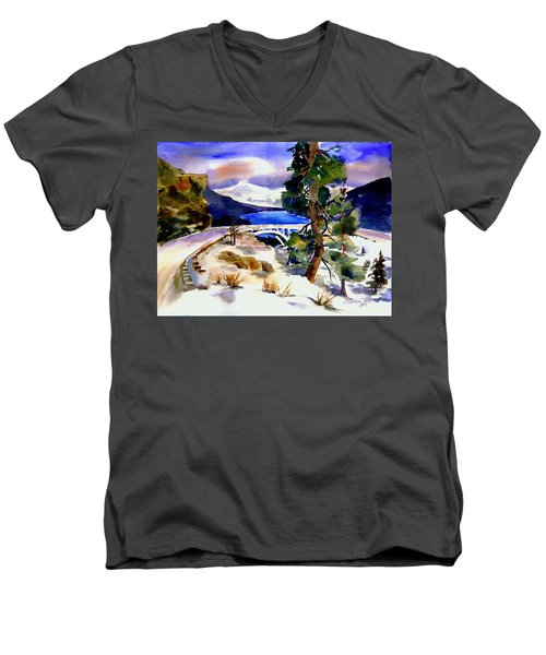 Rainbowbridge Above Donner Lake Men's V-Neck T-Shirt