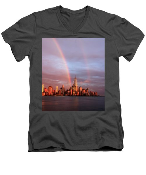 Rainbows In Nyc Men's V-Neck T-Shirt