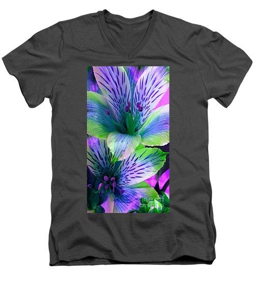 Rainbows  Men's V-Neck T-Shirt
