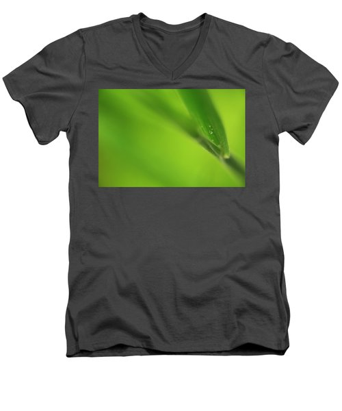 Raindrop On Grass Men's V-Neck T-Shirt