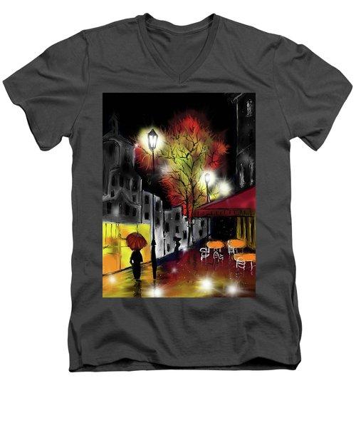 Raining And Color Men's V-Neck T-Shirt