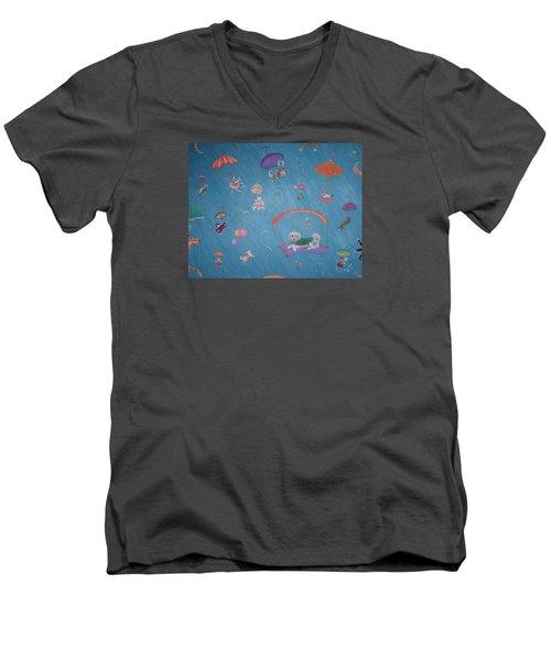 Raining Cats And Dogs Men's V-Neck T-Shirt