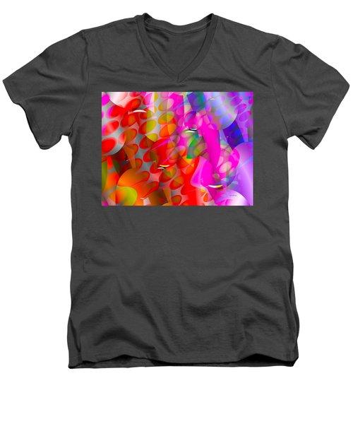 Men's V-Neck T-Shirt featuring the digital art Rainy Day Girl by Robert Orinski
