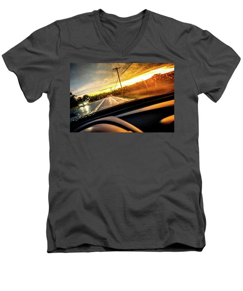 Men's V-Neck T-Shirt featuring the photograph Rainy Day In July II by David Sutton