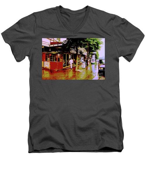Rainy Day In Paris Men's V-Neck T-Shirt